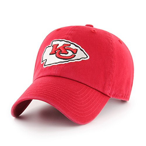 Kansas City Chiefs Cap (OTS NFL Kansas City Chiefs Challenger Clean Up Adjustable Hat, Red, One Size)