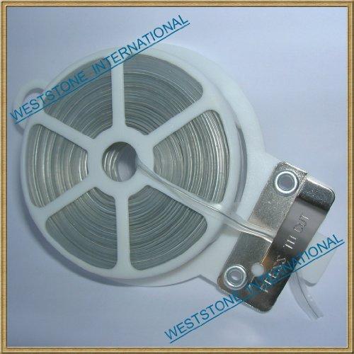 1pcs 65ft (20m) Clear Plastic Twist Tie Roll with Cutter - Flat