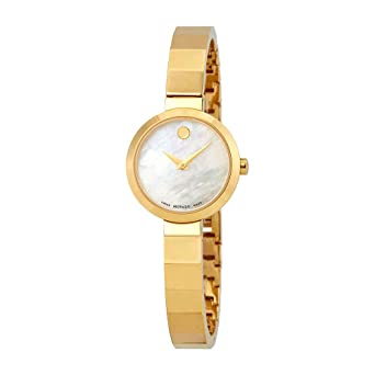 c024fcf16c6 Image Unavailable. Image not available for. Color  Movado Novella White  Dial Stainless Steel Ladies ...