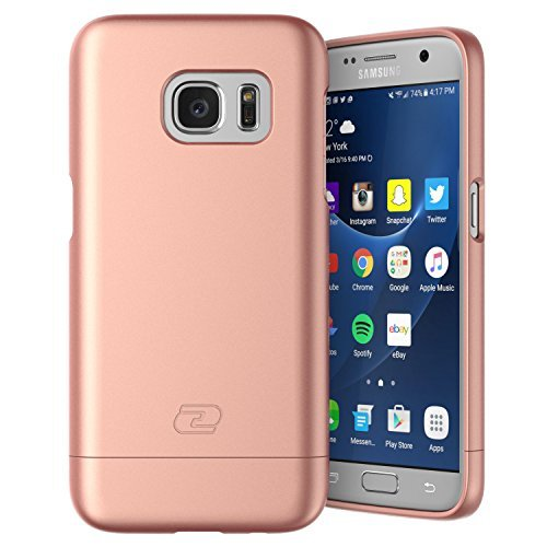 Samsung Galaxy S7 Case, Encased® Ultra-thin SlimSHIELD Hybrid Shell (**4 Cool Colors Available**) (Rose Gold)