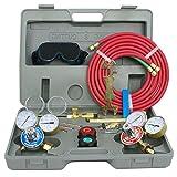 F2C Gas Welding& Cutting Torch Kit Oxy Oxygen Acetylene Welder Harris Type Tool Set with Portable Case