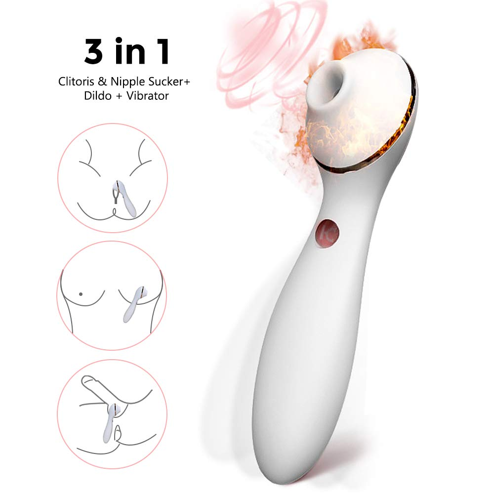 BLS-US Clitoral Sucking Vibrator, G Spot Dildo Oral Sex Simulator for Women with Suction, Waterproof Clitoral G Spotter Nipple Stimulator Toys Rechargeable Clit Sucker Massager Girl's Best Friend