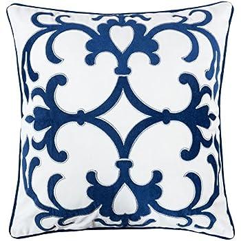 Amazon Com Homey Cozy Woven Cotton Throw Pillow Cover