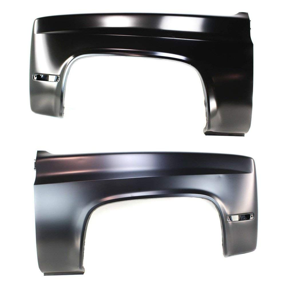 Fender compatible with 1986 Chevrolet C30 Set of 2 Steel Primed Front Left and Right Side