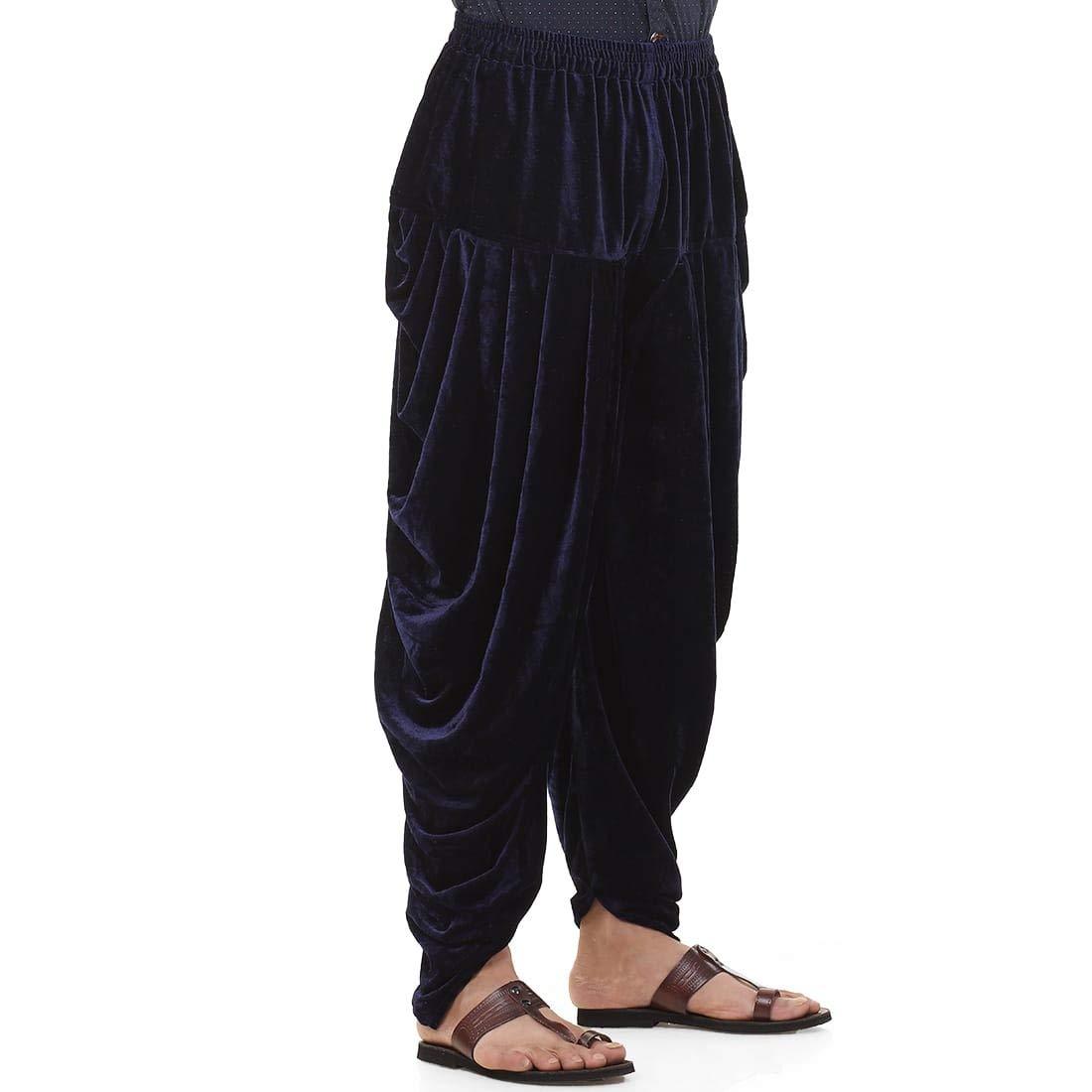 Patiala-Pants-Salwar-fuer-Maenner-Samt-elastischer-Bund-handgefertigt-laessig-Wear Indexbild 18