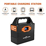 Rockpals 100W Solar Generator Kit with 50W Solar Panel, Portable Solar Power Inverter System, CPAP Battery Pack For Home Camping Emergency Backup Power Supply with 110V AC Outlet/12V
