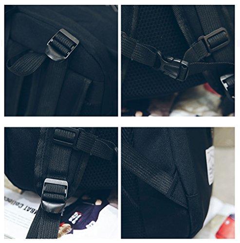 Unbekannt Rucksack Männer und Frauen Mode lässig leinwand rucksack einfache wilde student tasche männer und frauen im freien reisetasche sport Rot 9ds6ql