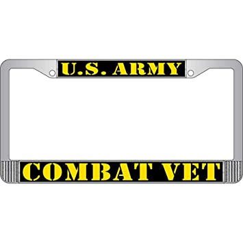 us army combat veteran license plate frame