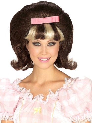 Blonde Peggy Sue Adult Wig - Forum Novelties Women's 1960's Brown and Blonde Costume Princess Wig, Brown/Blond, One Size