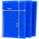 StratosAire Air Cleaner Replacement Filter Pads 12x24 Refills (3 Pack) BLUE