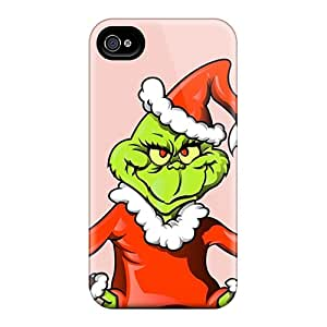 PhilHolmes Iphone 4/4s Scratch Protection Mobile Covers Custom Attractive The Grinch Christmas Illustration Image [kDr1644xzFs]
