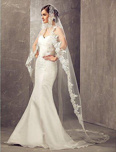 Lace Edge Wedding Veil - 6