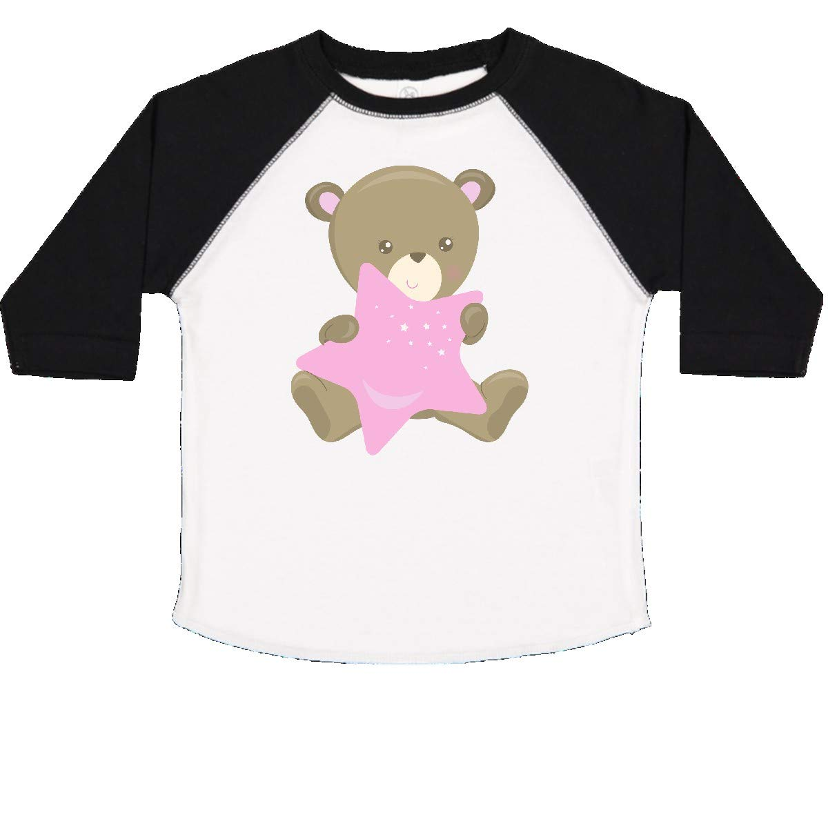 Cartoon Bear Toddler T-Shirt inktastic Baby Bear Holding a Pink Star