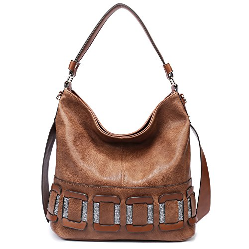BIG ON SALE-Womens Handbags,Large Tote Purses for Women Large Compacity Satchel (Brown928)