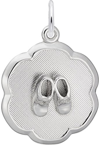 - Rembrandt Baby Booties On Charm - Metal - Sterling Silver
