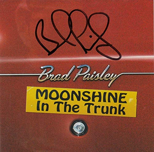 BRAD PAISLEY signesMOONSHINE IN THE TRUNK (COUNTRY) CD W/COA Autographed ()