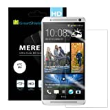 GreatShield(™) All New HTC One (M8) 2014 [MERE Mark II] Ultra Smooth UV Hard Coating [Crystal Clear HD] Screen Protector Shield - Lifetime Replacement Warranty (3 pack)
