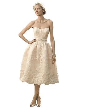 Casarse Le 2016, diseño de encaje de hombro Off vestido de novia corto my2015061808