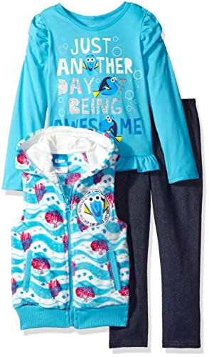 Disney Girls 3 Piece Finding Dory Vest and Pant Set