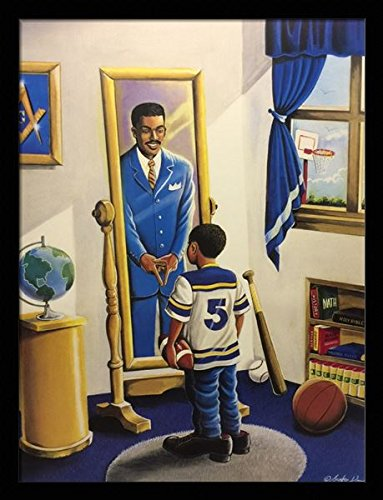 I Shall Be Raised Again.... ( Masonic ) - Lester Kern 24x32 Black Framed - African American Black Art Print Wall Decor Poster #LJ - US 7E15