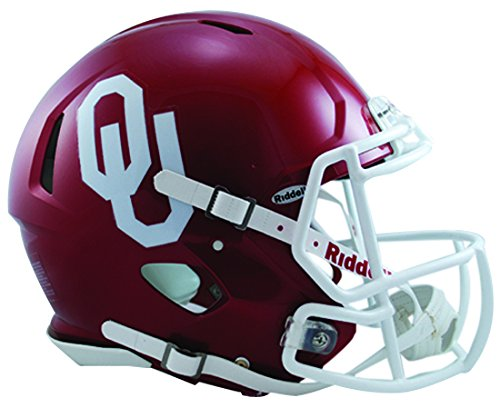 Sooners Mini Oklahoma Helmet (NCAA Oklahoma Sooners Speed Authentic Helmet, Red)