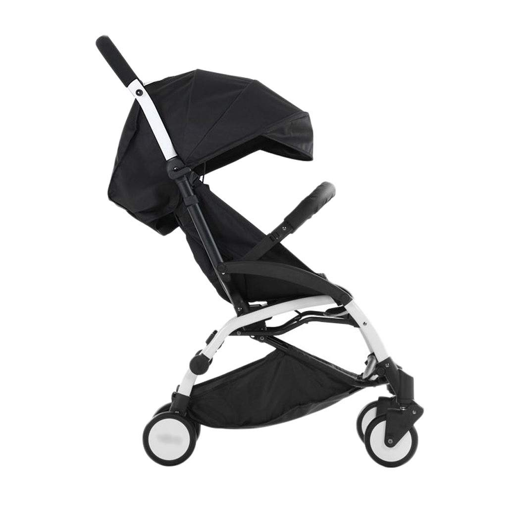 Baby Strollers Ultralight Easy Pocket Pushchairs Prams Portable Strollers Buggies Folding Can Sit Children Kids Travel Pushchair (Color : Black, Size : 26.7715.7440.55inchs)
