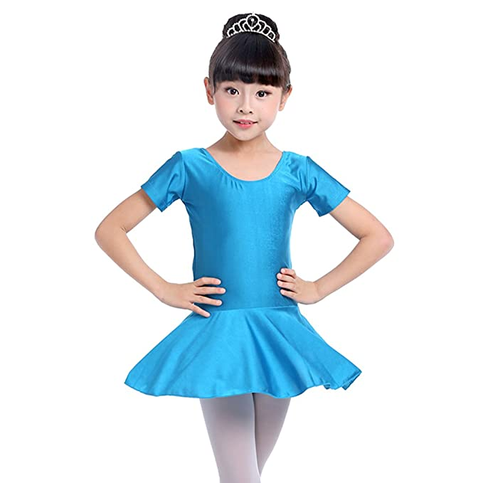 1d911a8f1 Amazon.com  BOZEVON Little Girls Gymnastics Ballet Short Sleeves ...