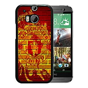 For HTC ONE M8,Manchester United 5 Black Protective Case For HTC ONE M8