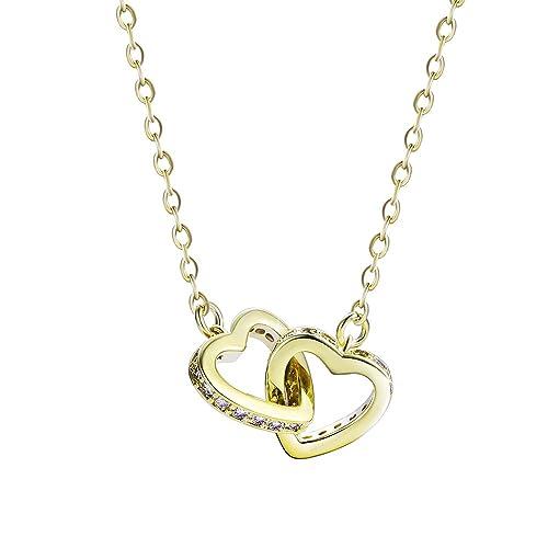 Xuping romantico Love ciondolo collana da donna di lusso croce collane con  catena gioielli per feste 49d60dc503d4