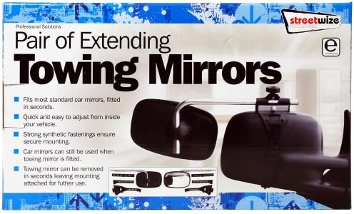 Streetwize SWTT84 Pair  Extending Caravan//Towing Mirrors Boxed E Approved