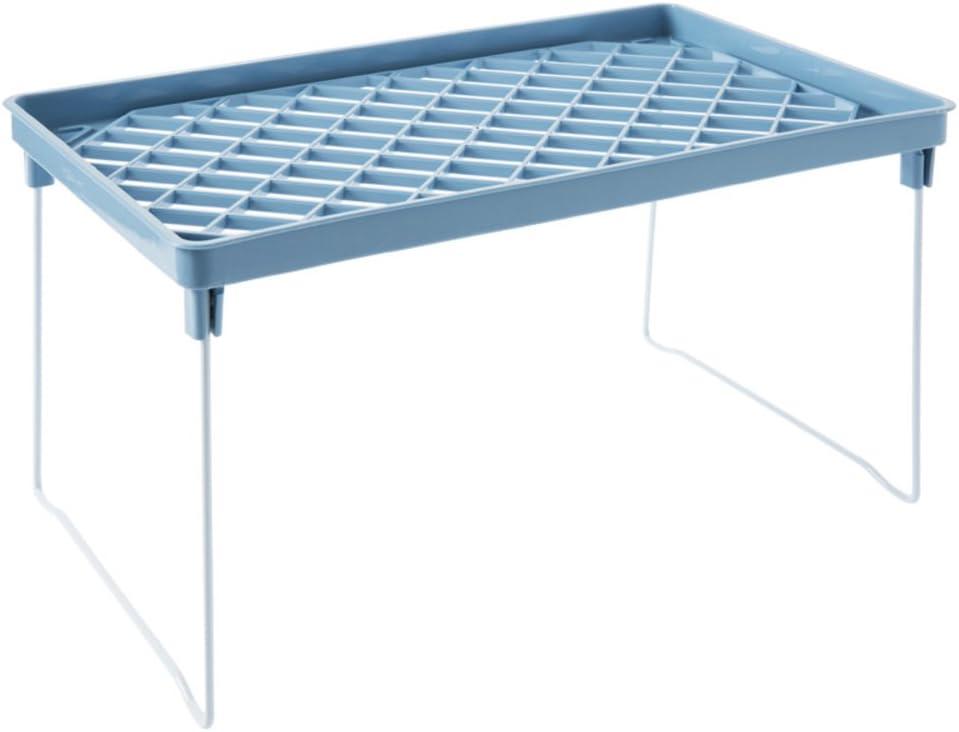 DULPLAY Almacenaje bajo balda,Cesto Organizador,Bajo estantes Plásticos Multi-Capa En Estante del almacenaje en los gabinetes para despensa del gabinete del Armario-Azul 15x5x6inch(38x12x15cm): Amazon.es: Hogar