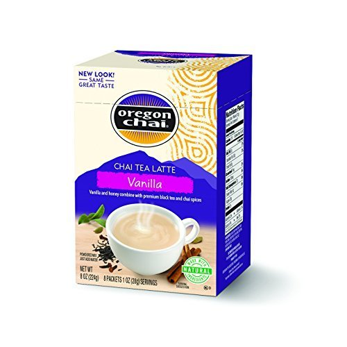 Kerry Oregan Chai Dry Mixes, Vanilla Dry, 8-Count Packages (Pack of 6) by Oregon Chai