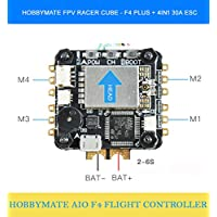 HOBBYMATE FPV Racing Quadcopter FC F4 Plus Racercube, W/ 4in1 BLHeli_s ESC 30A, W/ Integrated OSD Built-in 5V BEC LC Filter, W/ Onboard 5.8G 25/100/200mW FPV Transmitter