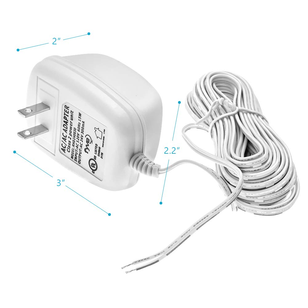 24 Volt C Wire Power Adapter Transformer For Ecobee Nest Eb15d Coleman Evcon Wiring Diagram Honeywell Emerson Smart Wifi Thermostat By Fyve Global 25 Ft Cable Home Audio