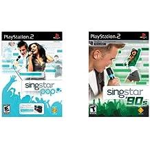 Playstation 2 Singstar Pop & Singstar 90's Game Bundle Ps2