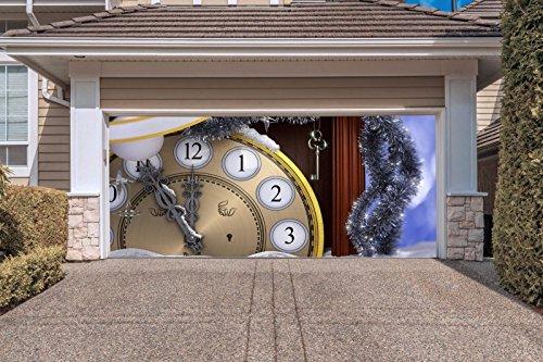 Christmas Clock Garage Door Covers Banners Outdoor Billboard For 2