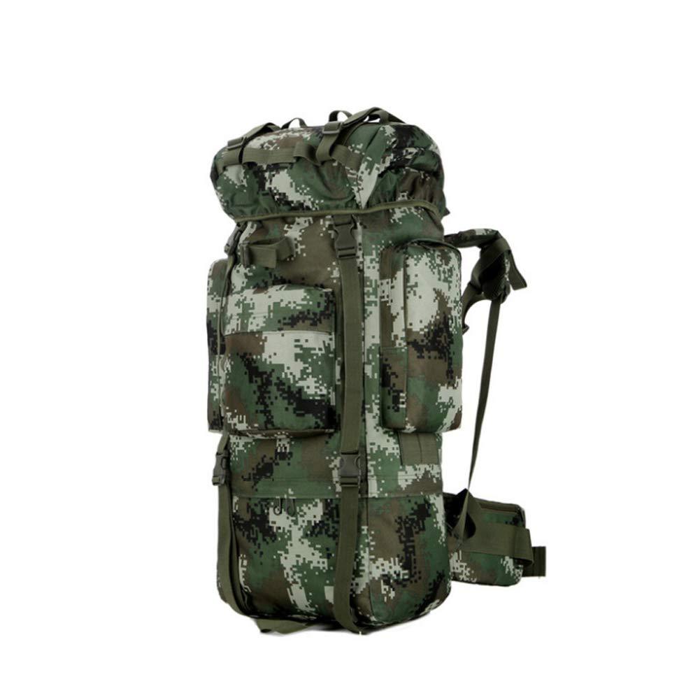 Camouflage vert 80L ZXL6 Extra grand Sac à Dos Voyage Randonnée Camping Alpinisme Sac à Dos en Plein Air Hommes Femmes Militaire Tactique étanche sacages Sac Léger
