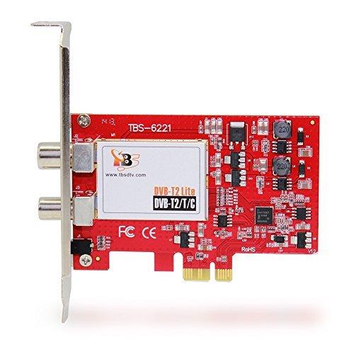Digitales terrestrisches TV: tbs6221PCI-E DVB-T/T2/C Karte Tuner TV, die neue Version von tbs6220, Television Cloc terrestrisch, Karte von Rezeption TNT in Frankreich und Empfang von Kabel Digital TV auf PC.