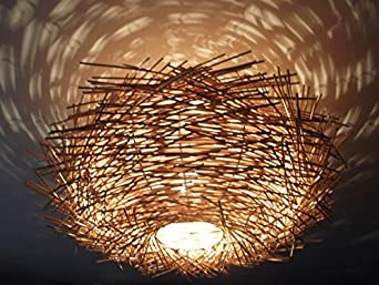Unusual Hand Made Quot Birds Nest Quot Ceiling Lamp Shade