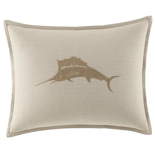 Blue Marlin Pillow - Tommy Bahama Shoreline Marlin Logo Throw Pillow, 16x20, Lt/Pastel Brown