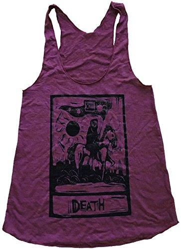 Tank Oak - Friendly Oak Women's Death Tarot Tank Top- L - Heather Cranbery