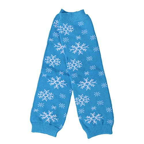 Dolled Up Designs Blue and White Snowflake Leg Warmer