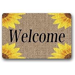 Machine-washable Door Mat Sunflowers Indoor/Outdoor Decor Rug Doormat 30(L) x 18(W) Inch