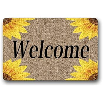 Amazon Com Doormat Machine Washable Door Mat Sunflowers