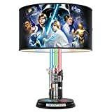 Star Wars Lightsaber Lamp with Illuminated Lightsabers and Steve Anderson Art by The Bradford Exchange