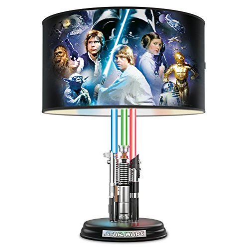 Star Wars Lightsaber Lamp with Illuminated Lightsabers and Steve Anderson Art by The Bradford Exchange by Bradford Exchange
