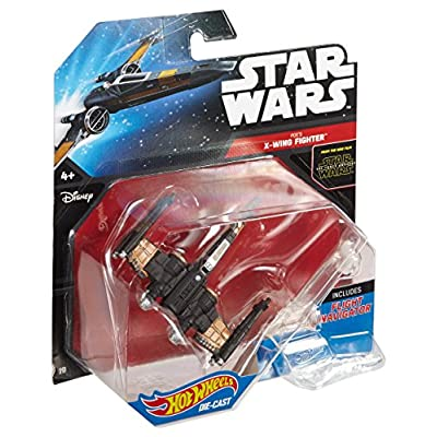 Hot Wheels Star Wars Poe's X-Wing Fighter (Closed Wings) Die-Cast Vehicle: Toys & Games
