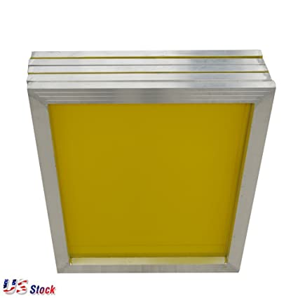 4469e87c949 Image Unavailable. Image not available for. Color  6pcs 18 quot  x 20 quot  Aluminum  Screen Printing Screens Frame with 305 Yellow Mesh Count