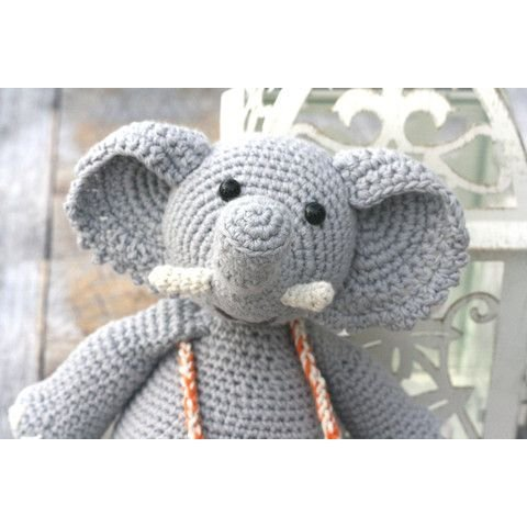 Hand Crocheted Elephant Toy - Organic and Fair Trade by our green house