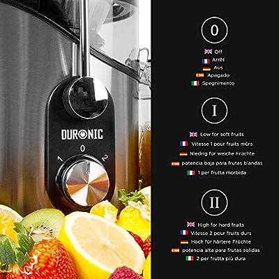 Duronic JE8 (Reacondicionado) Licuadora para Verduras y Frutas ...